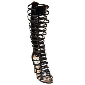 Steve Madden Codex Gladiator Sandals Boots Black 9